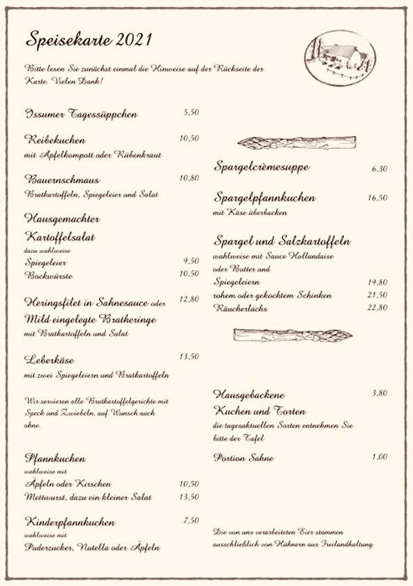 Speisekart Baerlaghof 2021