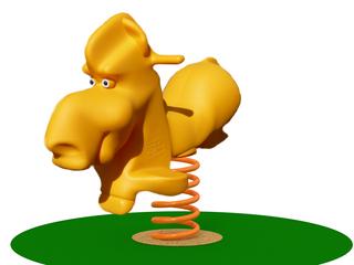 Bujak na spręzynie PE na plac zabaw Koni