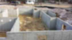 A recently poured residential foundation in Fairfax, VA.