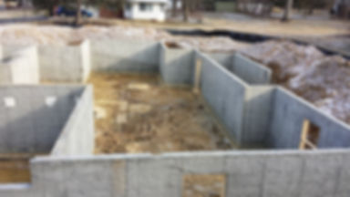 A house foundation in Fairfax, VA.