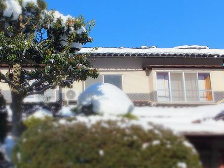 寒波の中の青空