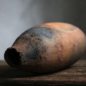 Terracotta wabi-sabi vessel