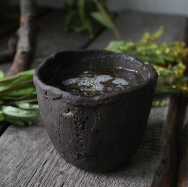 Wabi-sabi tea cup