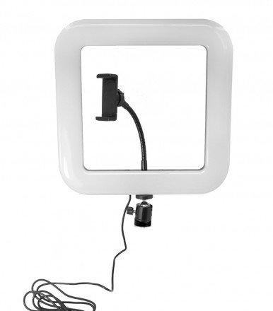 Квадратная светодиодная селфи лампа D35 с держателем для телефона