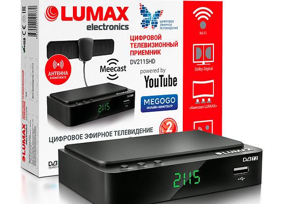 Цифровой приемник LUMAX DV2115HD (DVB-T2/C) антенна в комплекте