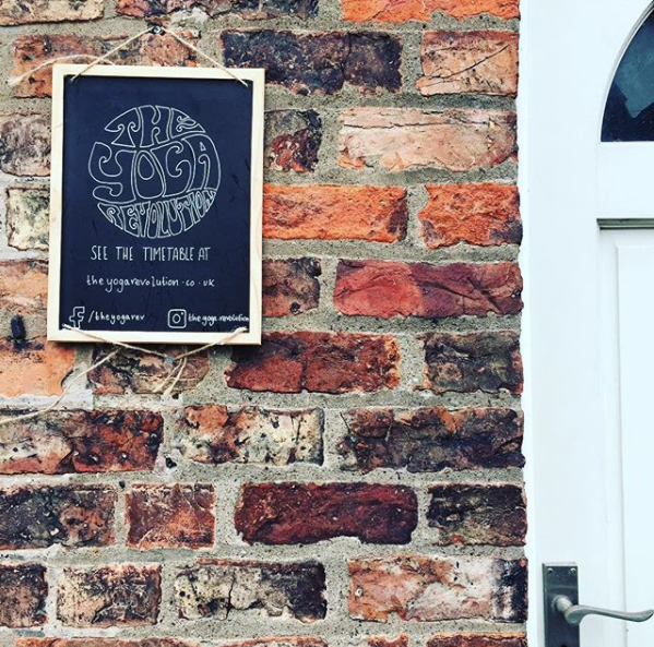 The Yoga Revolution Studio sign, and our front door. Yay for #houselife!