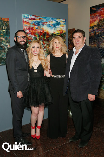 Esteban Soto, Paola, Cecy y David