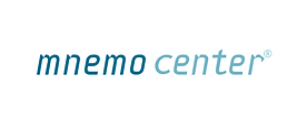 logo mnemo center mnemosline bianco colo