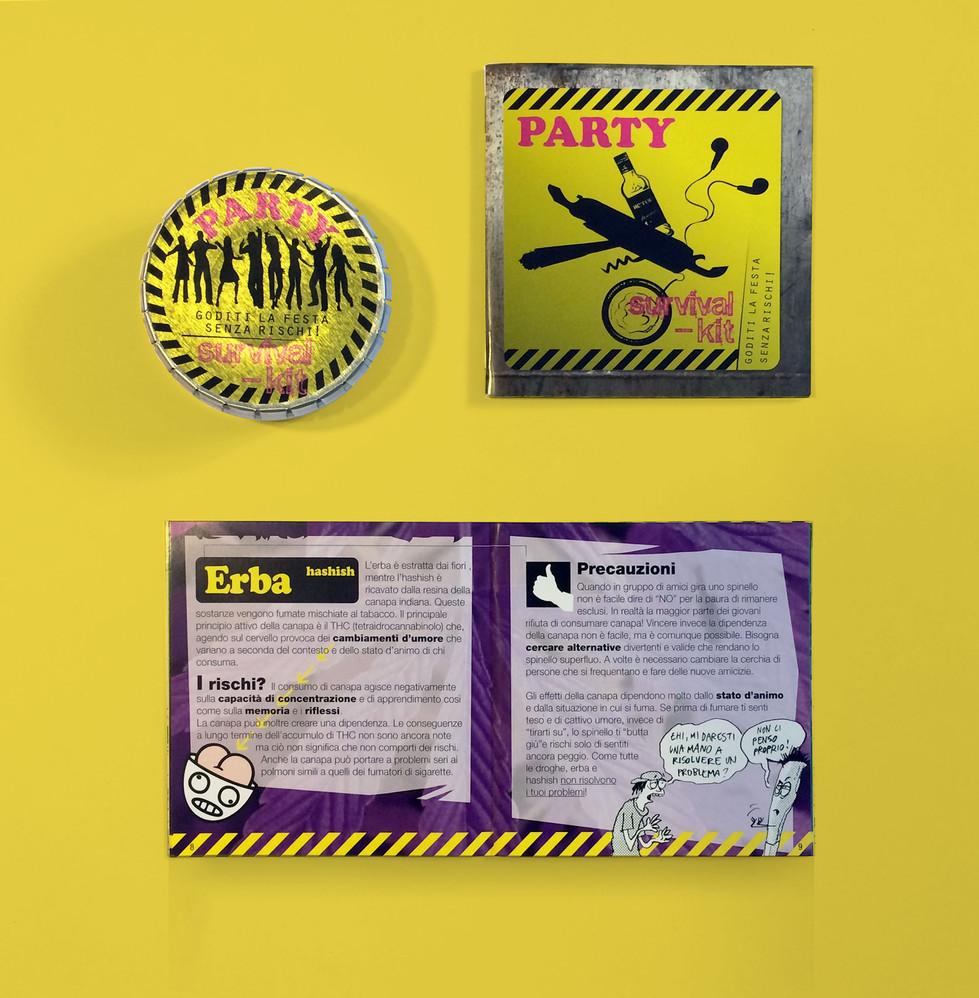 "Flyer ""party survival-kit"""