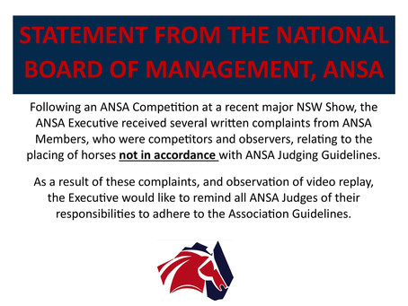 Statement from the Board