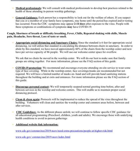Bayide Phased Reopening Plan - ITEM 2.3.