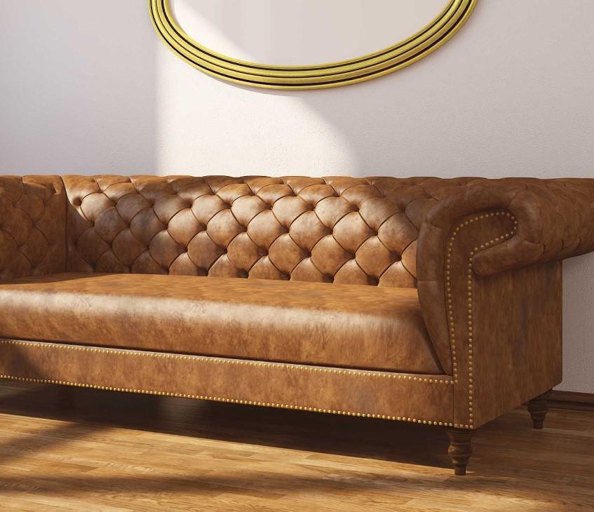 3D Chesterfield Sofa Visualisierung