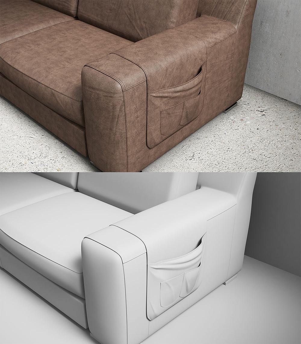 3D Sofa Modellierung