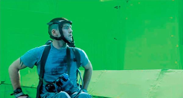 3d modelleme sırasında kullanılan yeşil perde örneği