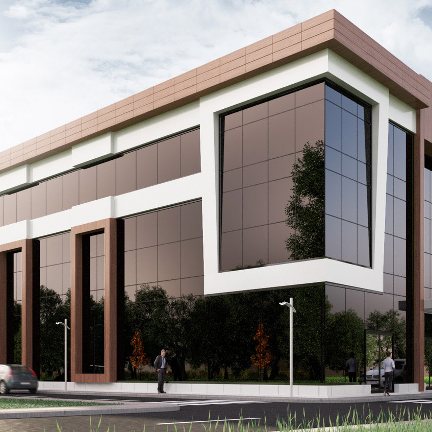 3D Geschäftszentrum Visualisierung