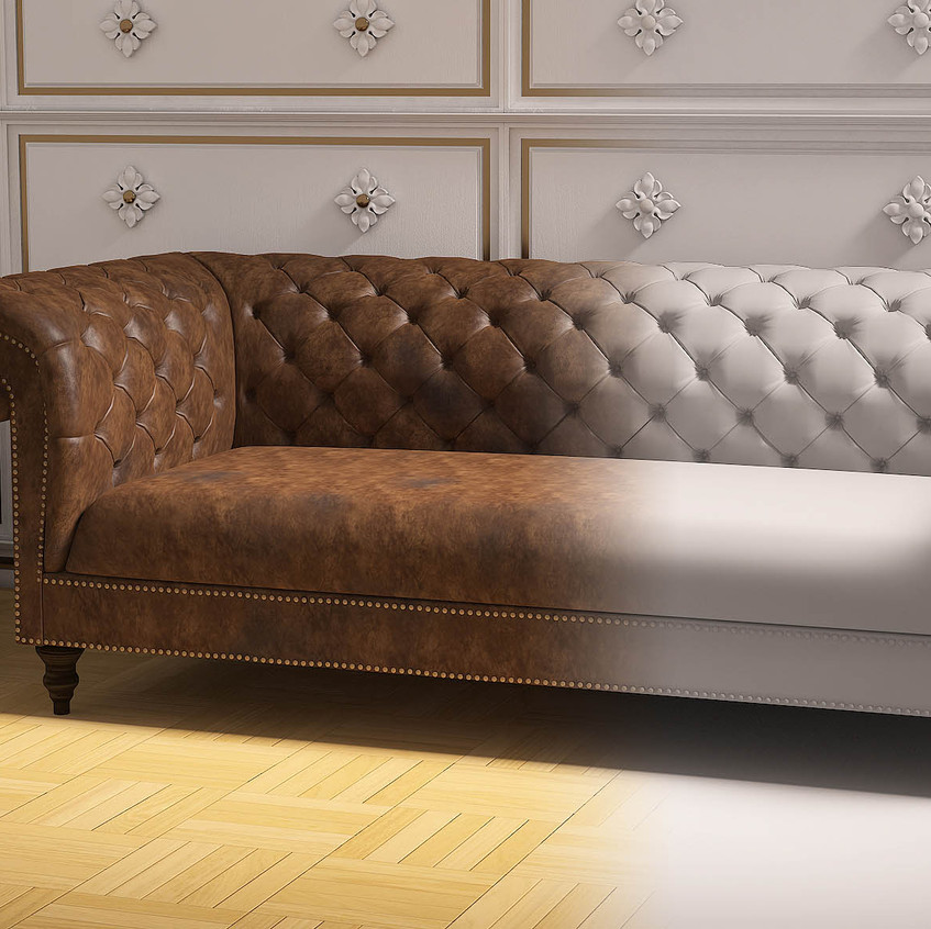 3D Chesterfield Sofa Modellierung