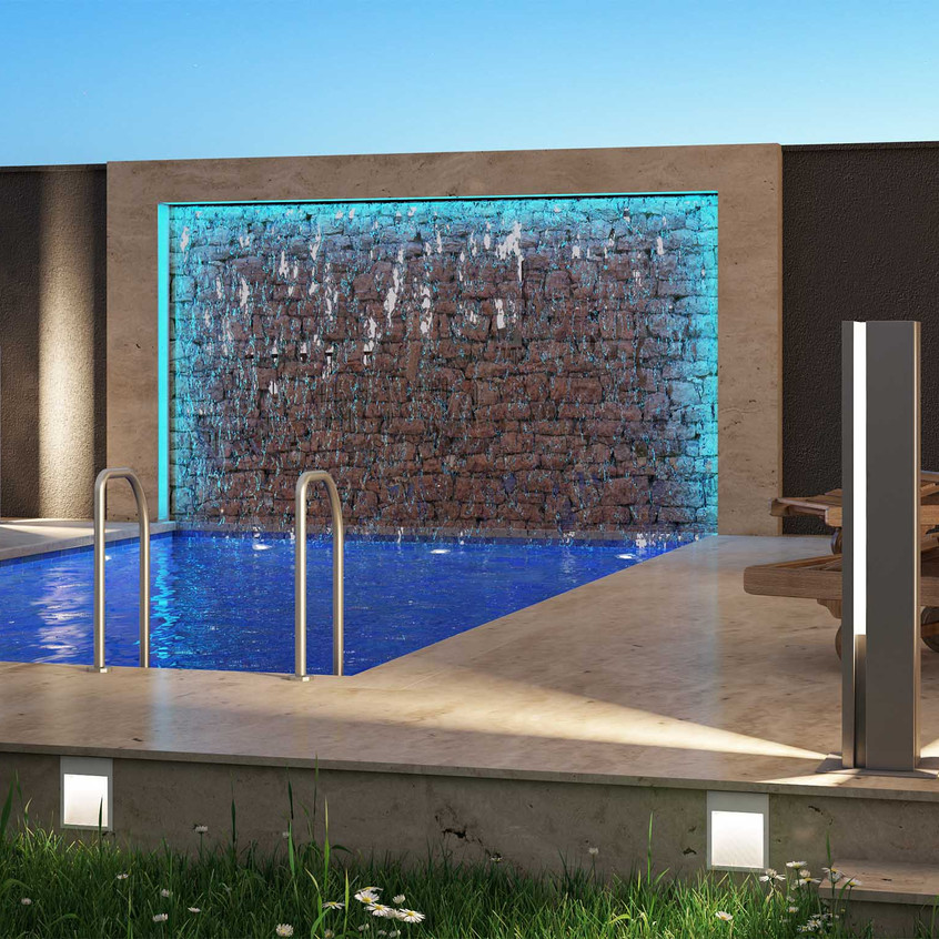 3D Villa Pool Visualisierung