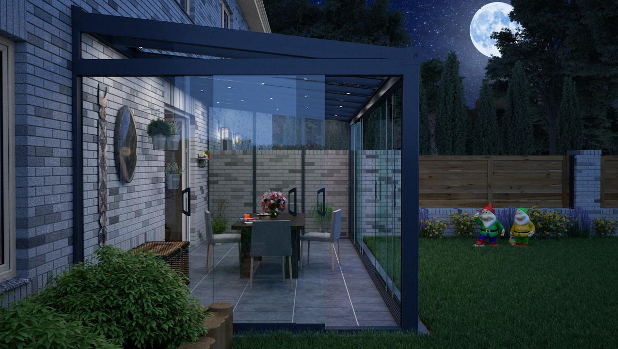 Garten Terrasse 3D Visualisierung