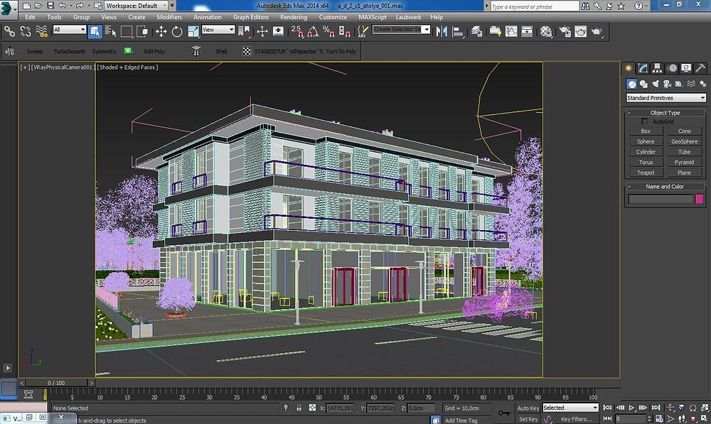 3d bina modelleme örneği