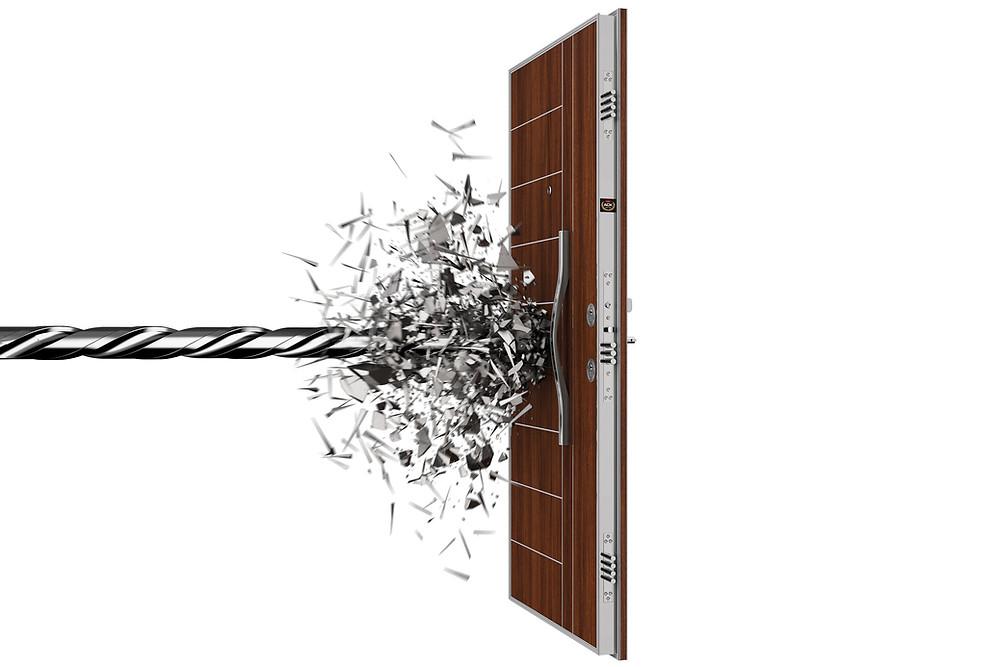 Stahltür 3D Produktvisualisierung