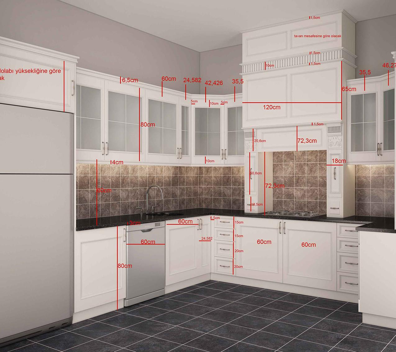 3d modelleme mutfak ölçü dosyası