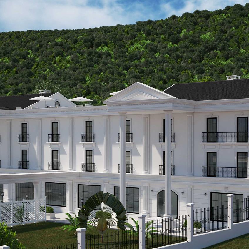 3D Architekturvisualisierung Hotel