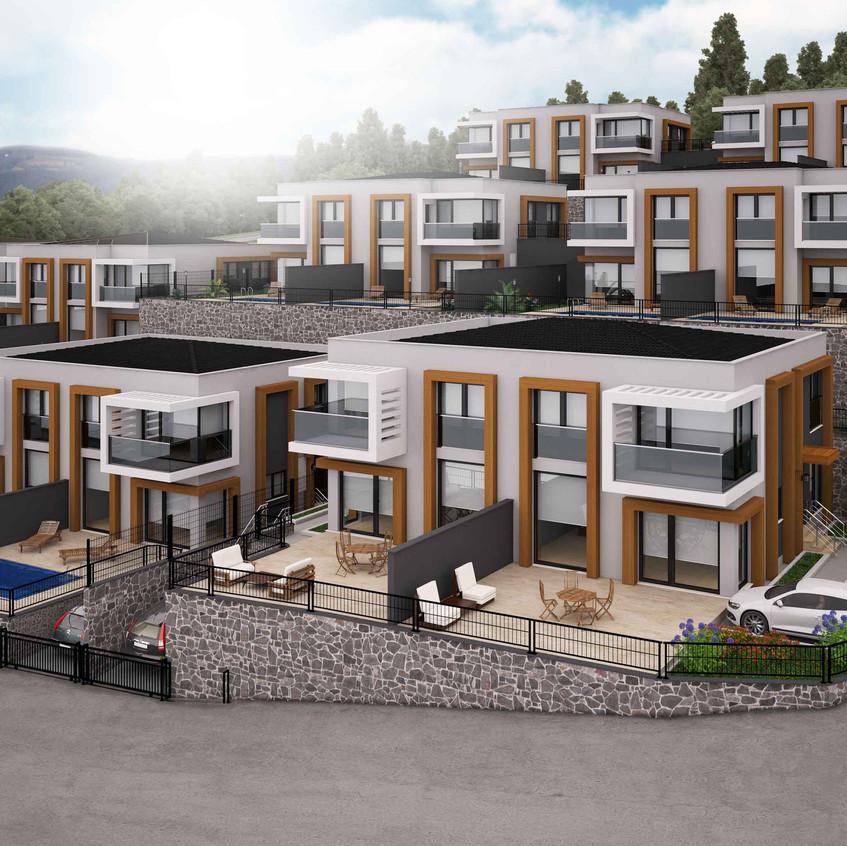 3D Villa Projekt Visualisierung