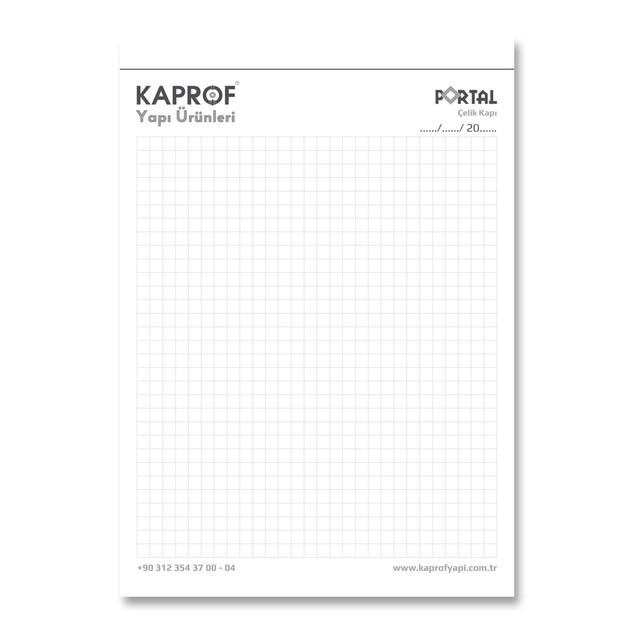 Blok Not İç Sayfa Tasarımı