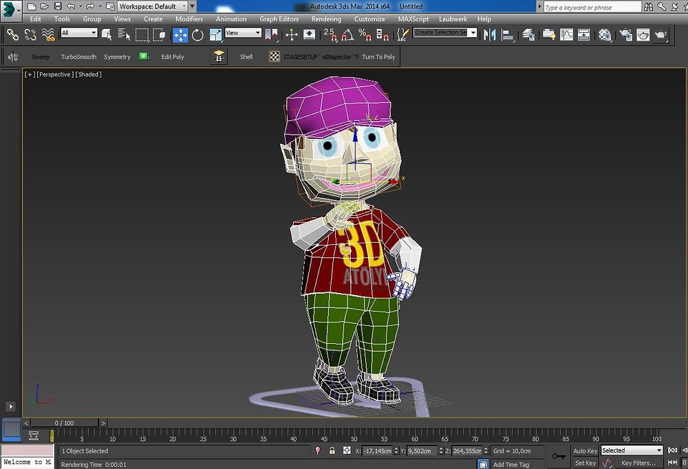 3d modelleme ile karakter modelleme