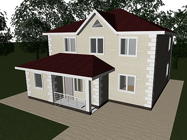 коттеджи, дома из блоков, загородные дома, индивидуальное строительство, строительство из блоков хабаровск