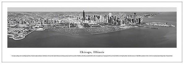 BW CHI 8 Chicago Skyline - Black and White
