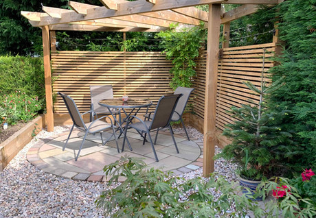 Pergola and sleeper bed in West Bridgford