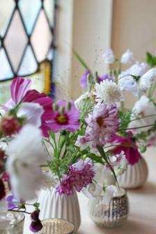 Wedding Flowers Pink White Church Seveno