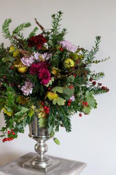 Natural Organic Flower Urn Arrangement S