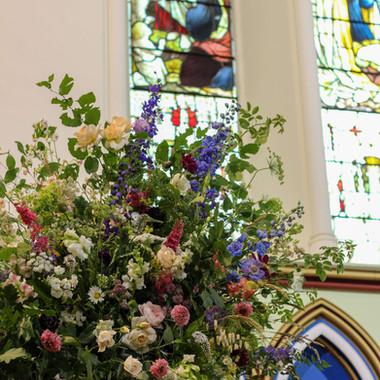 British Garden Flower Urn Church Wedding