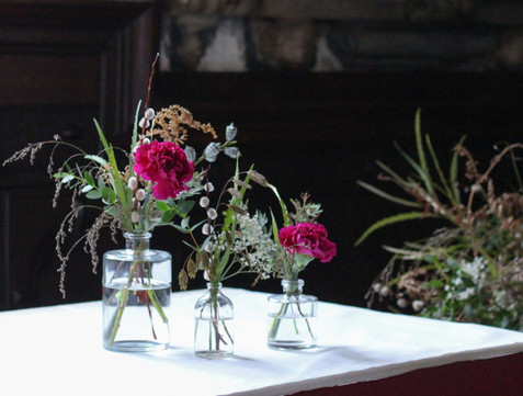 Foliage Pink Flower Ceremony Table Kent.