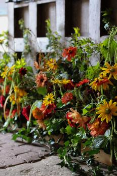 Natural Flower Installation Church Tonbr