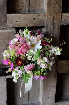 Seasonal Summer Wedding Bouquet Pink Whi