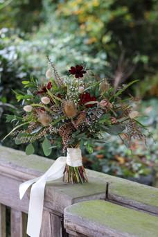 Autumnal Wedding Bouquet Chocolate Cosmo