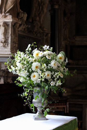 White Green Tonbridge Church Wedding Urn