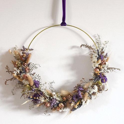 Natural Lavendar Dried Flower Hoop 25cm