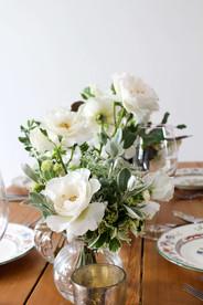 Rose Grey Foliage Table Flowers Kent.JPG