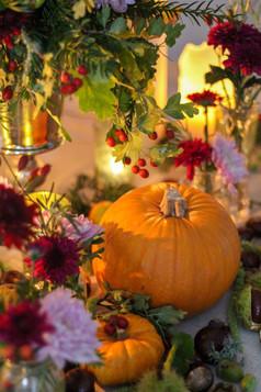 Kent Harvest Event Flowers Pumpkins Chry