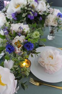English Peony Cornflower Table Flowers.J