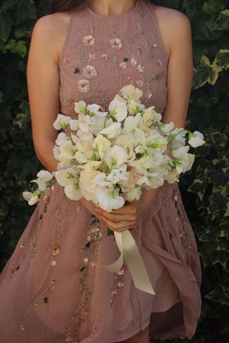 Bridesmaid White Blush Kent Bouquet.JPG
