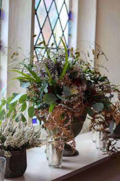 Wild Urn Bracken Grasses Heather Window
