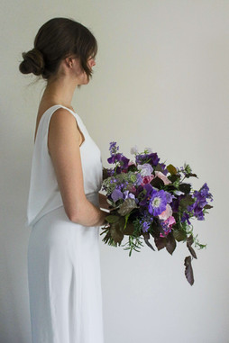 Wild Romantic Bridal Bouquet Purple Pink