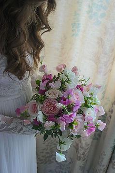 Romantic English Summer Bridal Bouquet.J