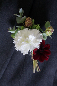 Groom White Red Buttonhole Kent.JPG