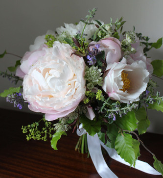 Peony Pink White Green Brides Bouquet.jp